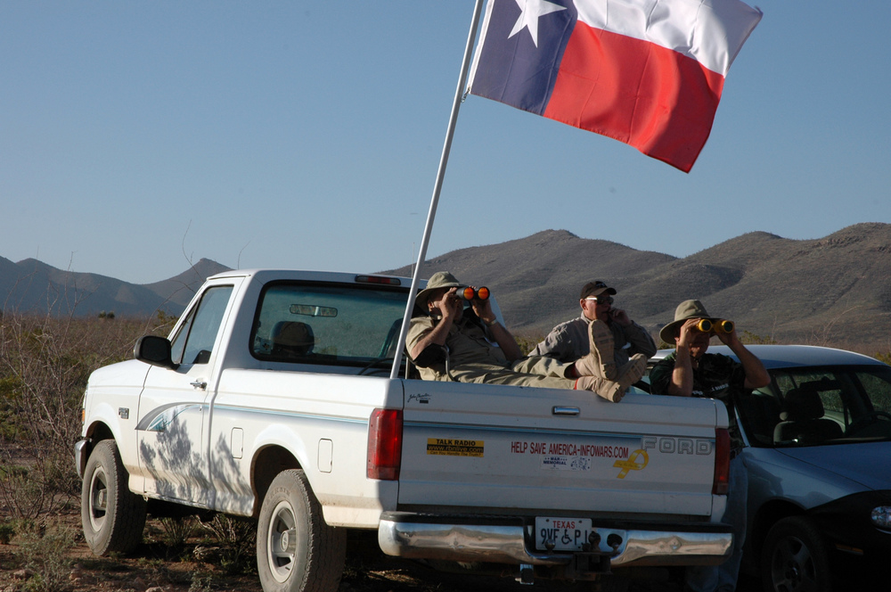 Vigilantes on the border. Credit: Andy Isaacson