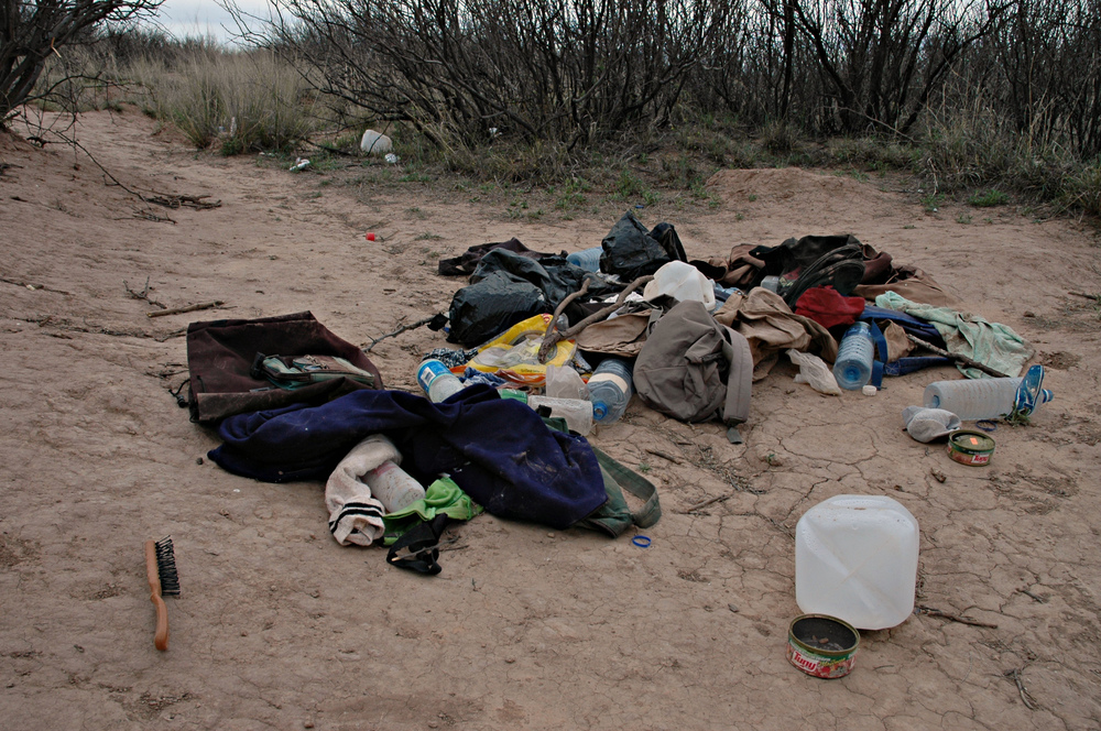 Trash left by migrants. Credit: Andy Isaacson
