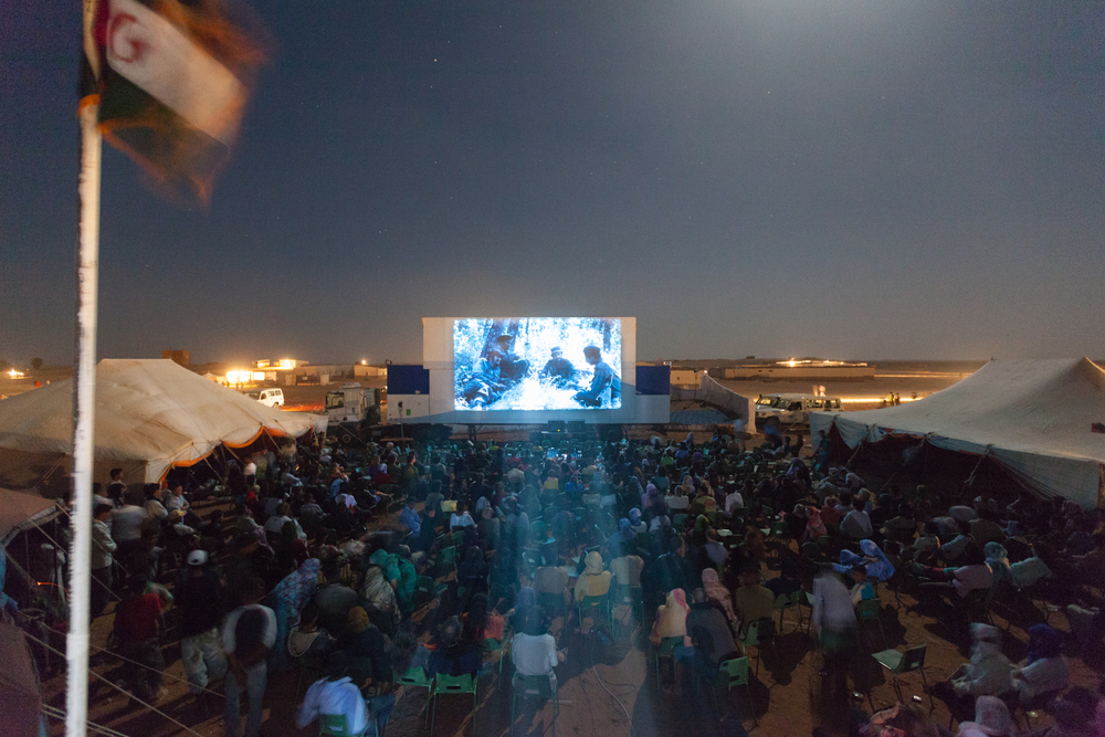 The sixth annual Sahara International Film Festival claimed to be the world's only film festival held in a refugee camp. Credit: Andy Isaacson
