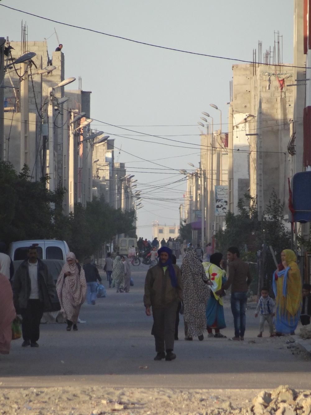 Town life in Western Sahara