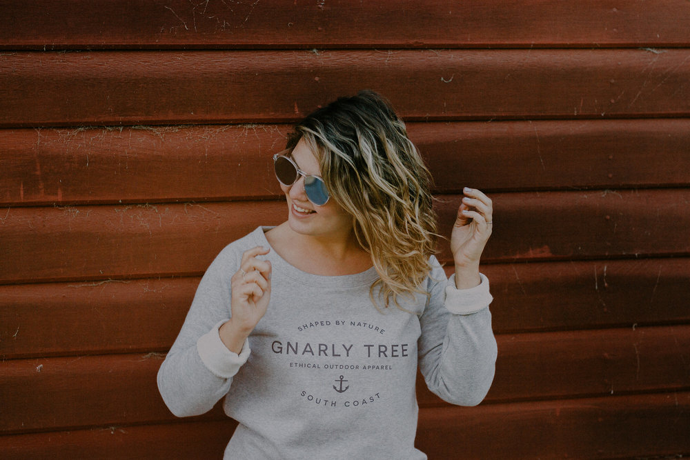Gnarly Tree Signature Wide neck Sweatshirt