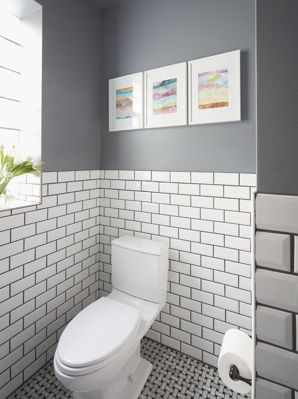 Tile wainscot floor and decorations catalogue floor and the client files the powder room you never have to renovate again the classic marble basketweave shiifo