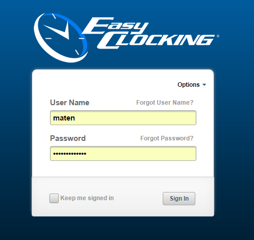 Easy Clocking Login.PNG
