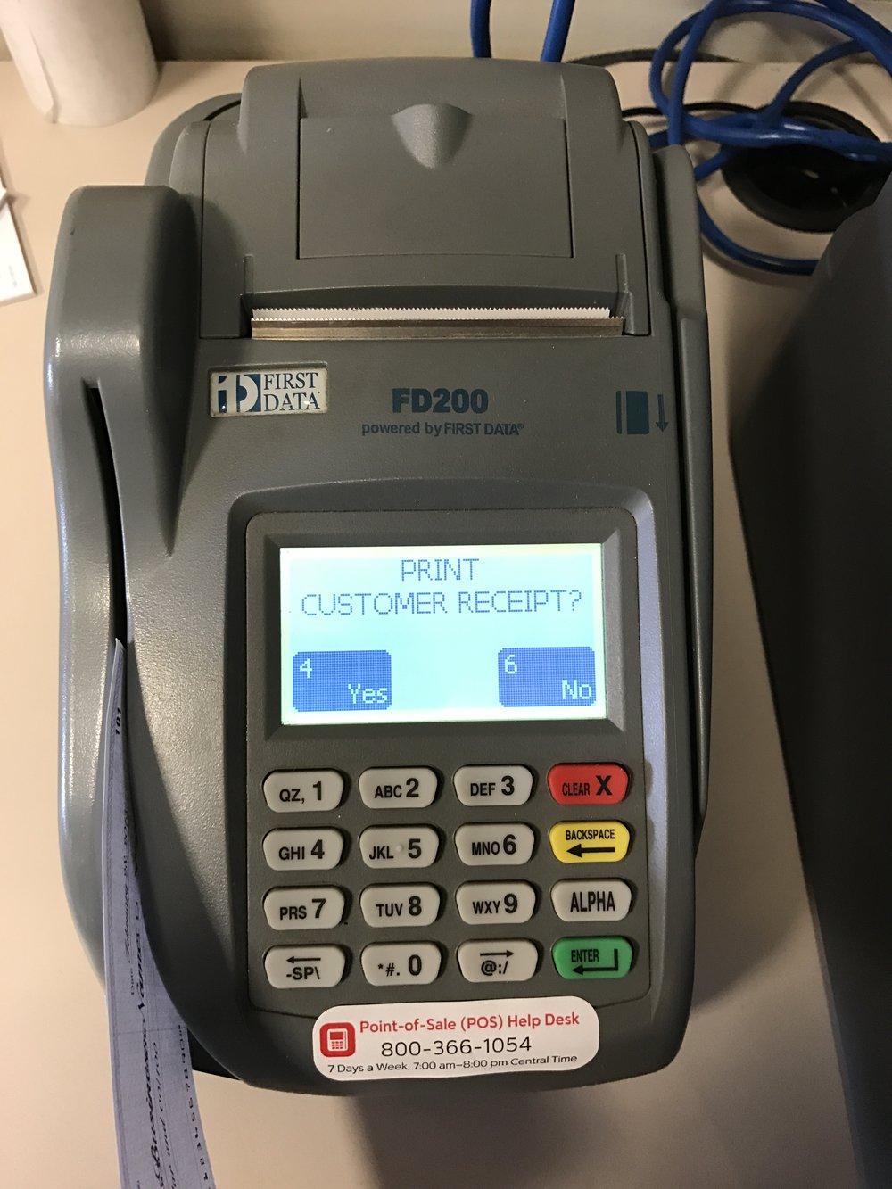 10. Print Customer Receipt? ALWAYS press Yes