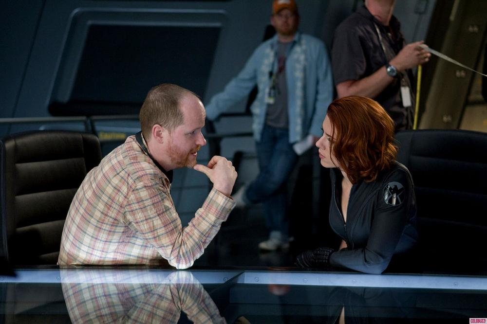Joss Whedon and Scarlett Johansson (Source: Collider )