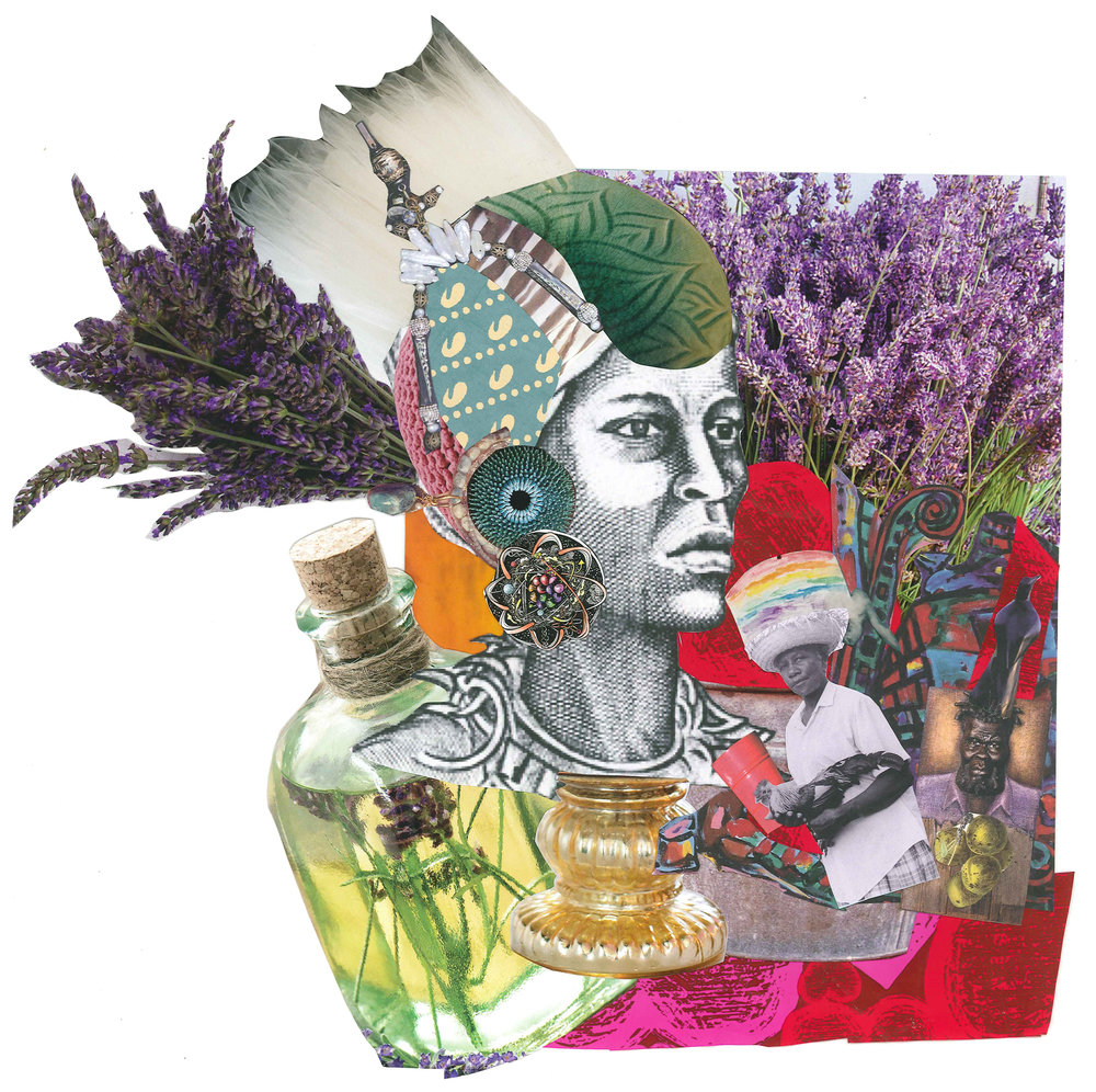Collage of Nanny of the Maroons by Alexis Pauline Gumbs