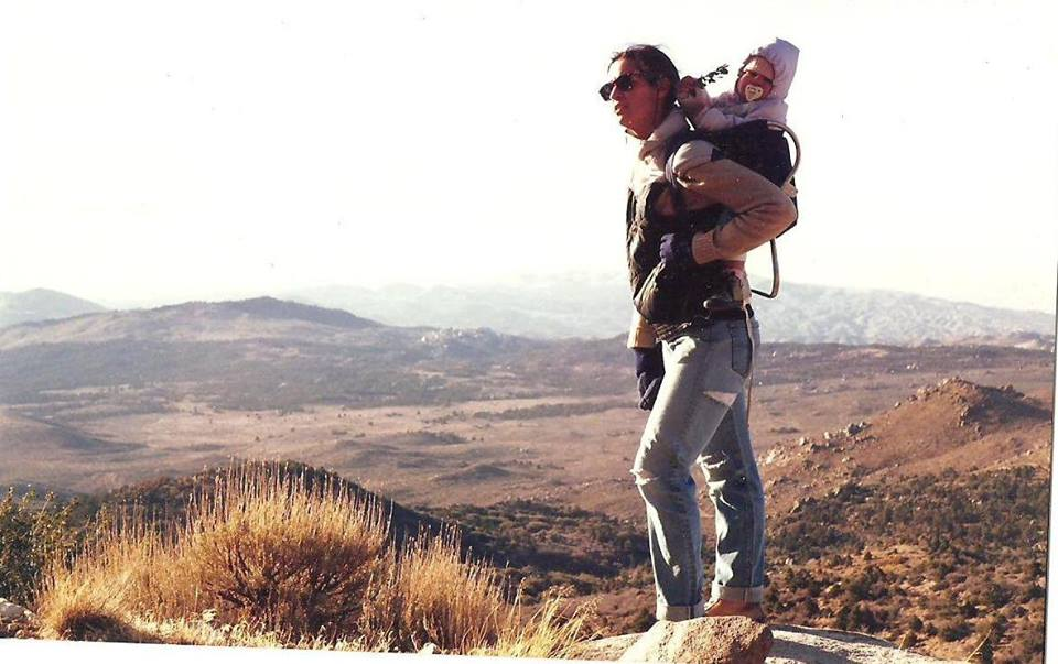 Ruth Nolan with daughter, 1988.