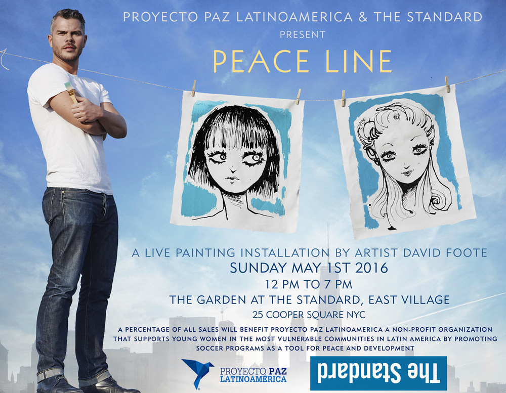 PEACE LINE LIVE PAINTING INSTALLATION