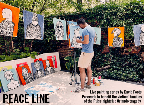 PEACE LINE LIVE PAINTING SERIES AT THE STANDARD, EAST VILLAGE