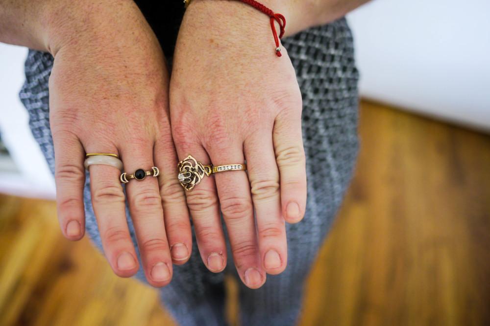Rings, Pamela Love & Vintage.
