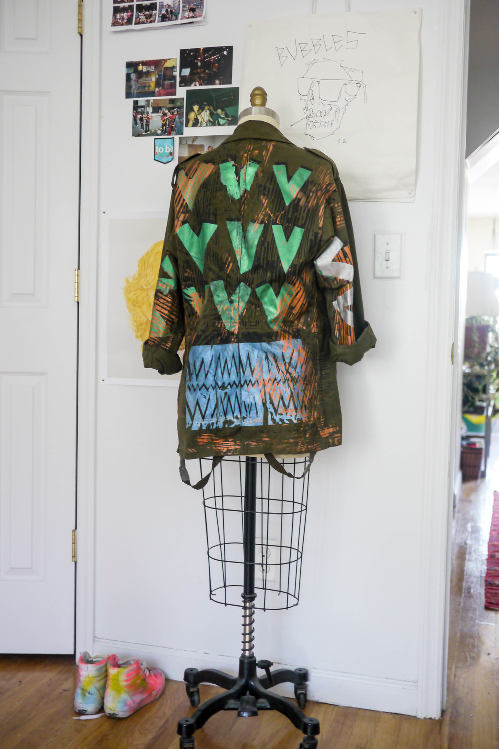 Printed Army Jacket by Christian Joy