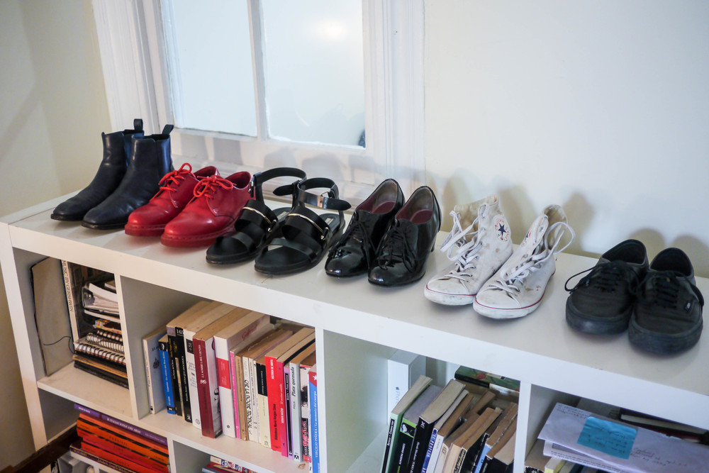 Anita's Favorite Shoes from Left to Right: & Other Stories, Dr. Martens, Balenciaga, Vintage, Converse & Vans.