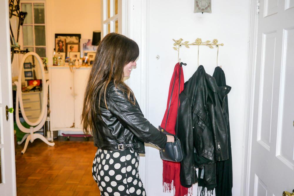 Jacket, Vegan Leather ;Pants, Kenley Collins
