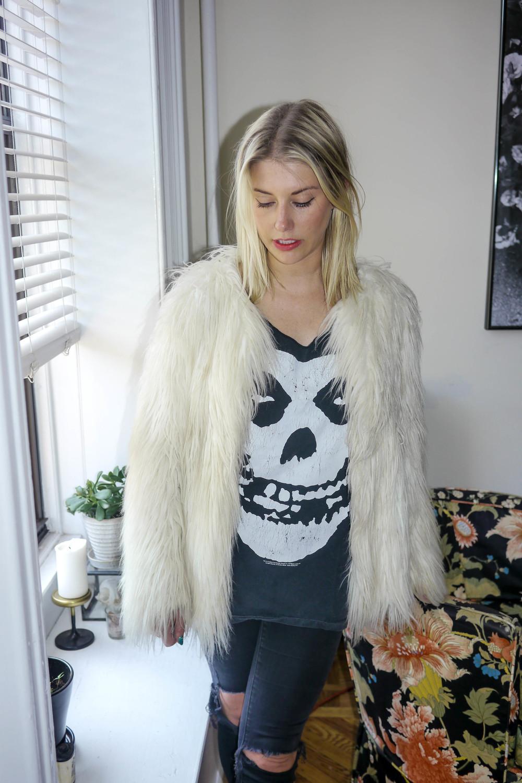 Jacket, Zara ; Top, Misfits ; Jeans, Madewell