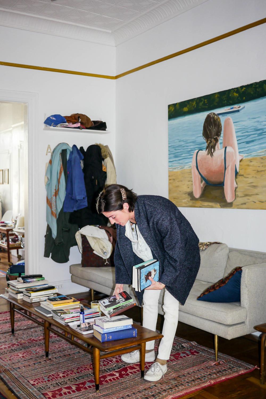 Coat, Isabel Marant ; Top, Henrik Vibskov ; Pants, Rag & Bone ; Shoes, Superga