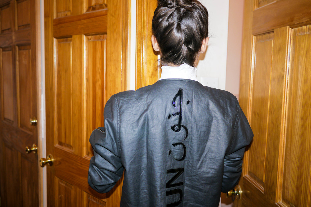 Jacket, JNOUN ; Top, American Apparel