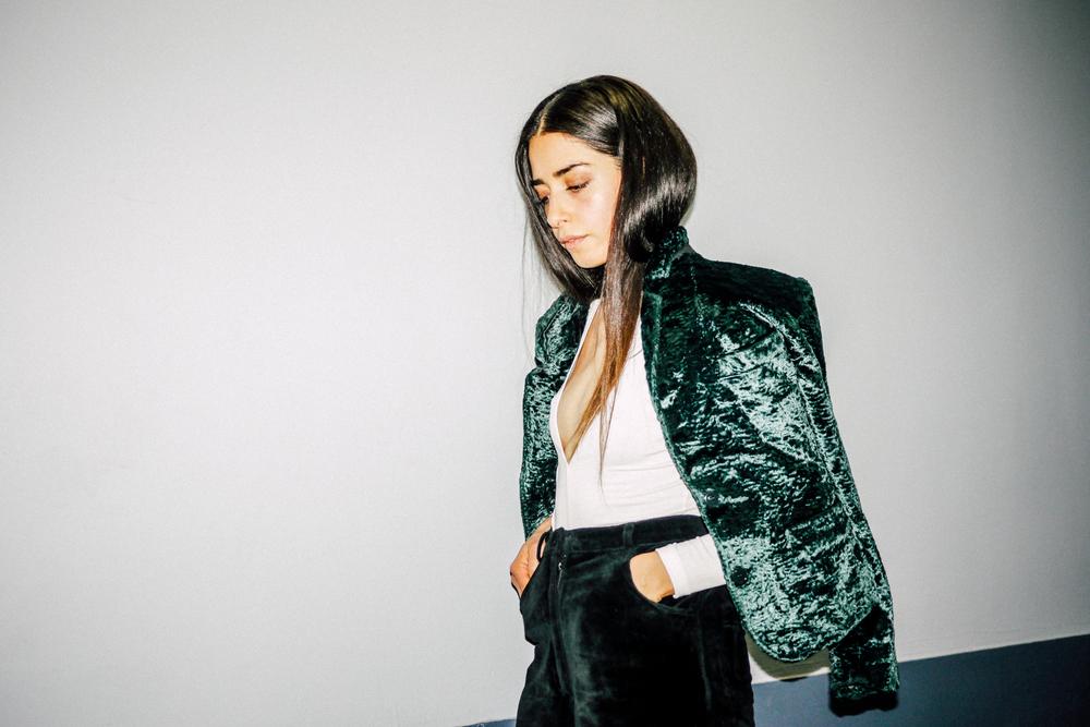 Jacket, Kenzo ; Pants, Ralph Lauren