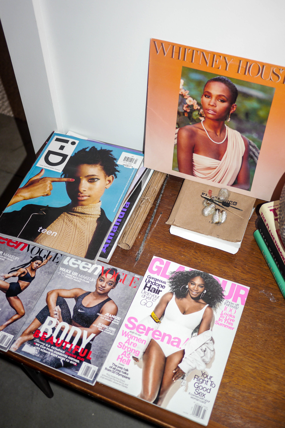 Jenna's collection of magazine featuring black women on the cover
