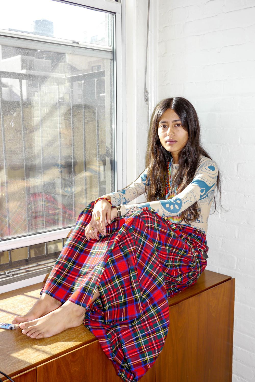 Top, Margiela x H&M ; Skirt, Vintage