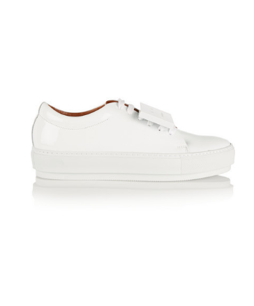 ACNE STUDIOS - ADRIANA PLAQUE-DETAILED LEATHER SNEAKERS