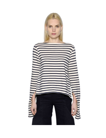 JACQUEMUS OPEN BACK STRIPED COTTON JERSEY
