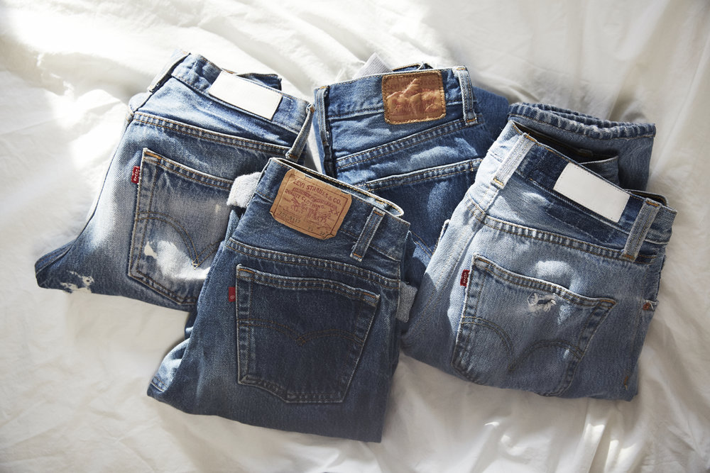 Anna's favorite pairs of vintage Levi's