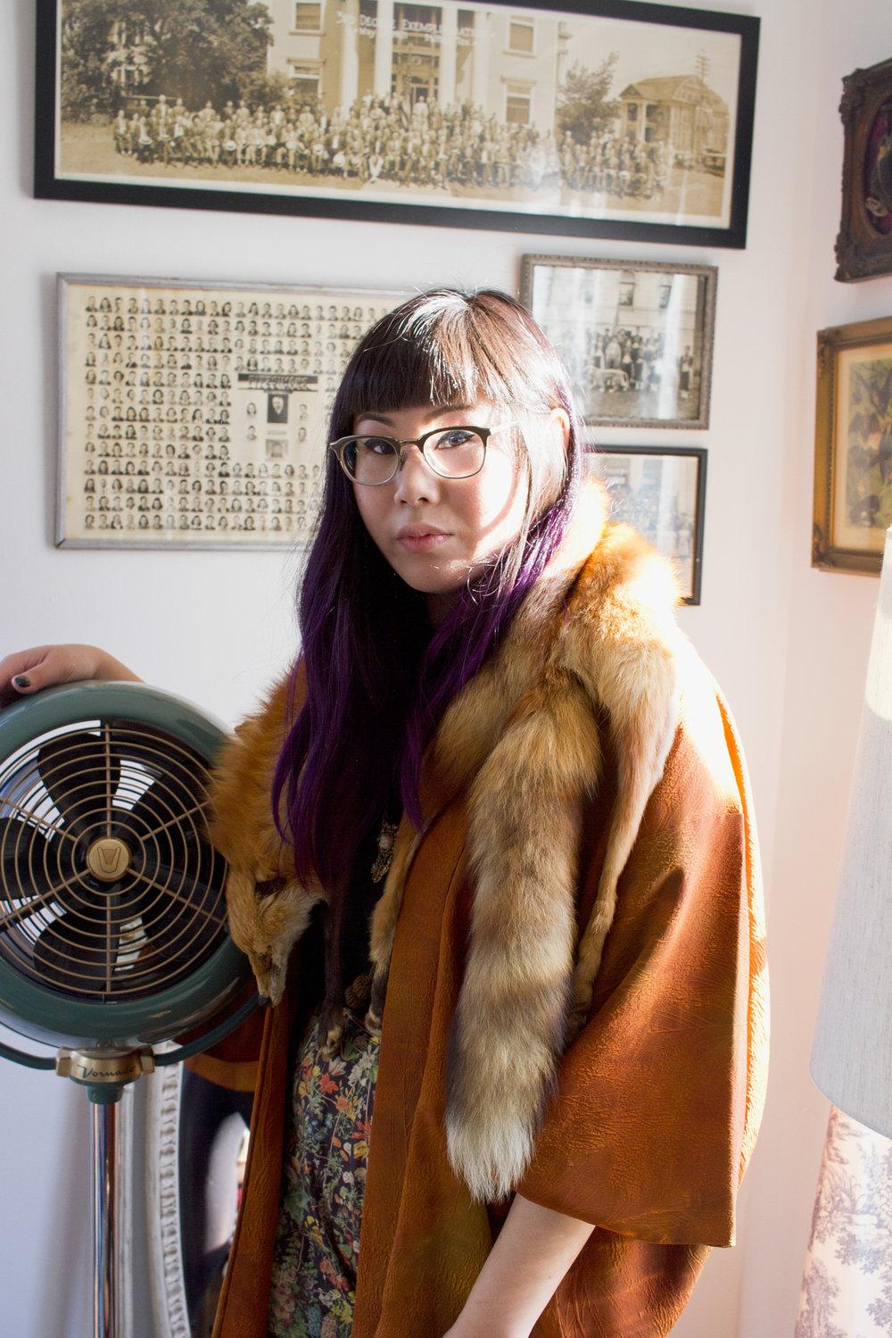 Fox Fur Cardigan, Victory Girl Vintage