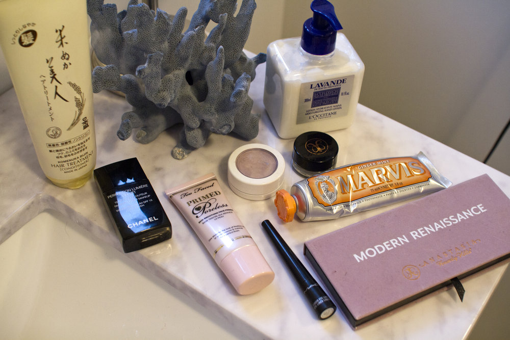 Some of Jordan's favorite beauty products