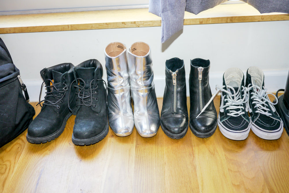 Shoes from left to right: Timberland ; Topshop ; Vagabond ; Vans