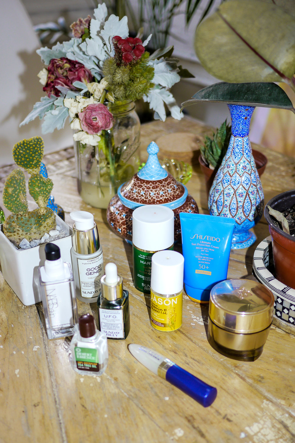 Bianca's beauty products