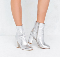 Urban Outfitters Metallic Boots
