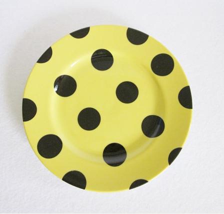 vintage polka dot plate