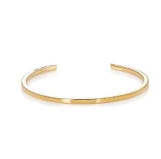 Saint Laurent Gold Armure Cuff