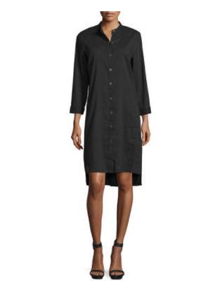 Eileen Fisher Black Linen Blend Dress