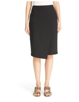 tibi asymmetrical faux wrap skirt