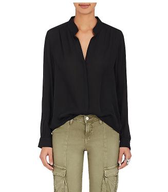 L'Agence women's black silk blouse barneys new york