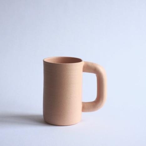 workaday handmade tall pink mug