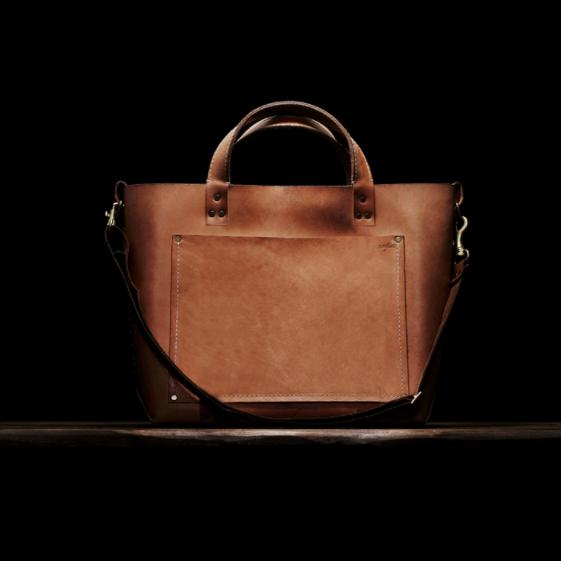 Poglia Classic weather aged leather bag