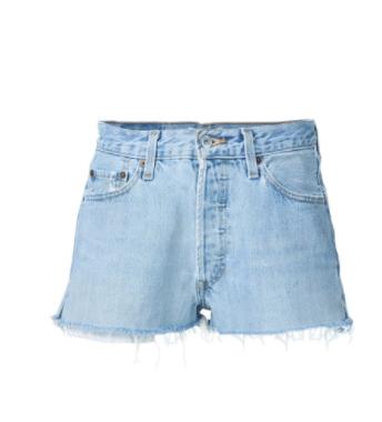 Re/DONE mid rise vintage levi's cut off denim shorts