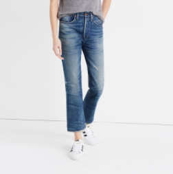 Madewell rivet & thread extra-high kickout jeans