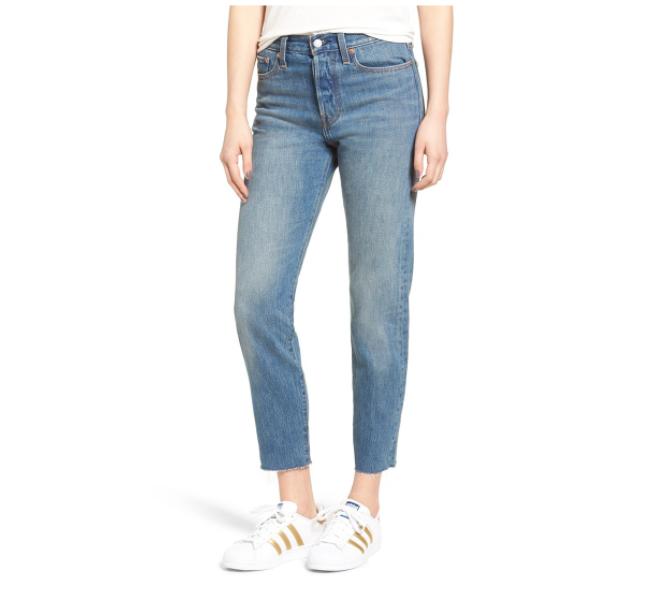 Levi's Wedgie Icon high waist crop jeans
