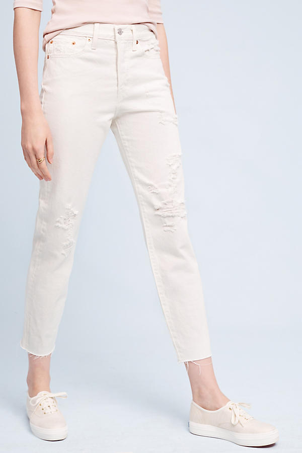 levi's wedgie icon ultra high rise jeans white