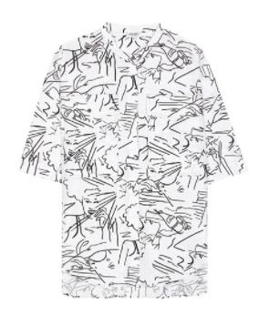 kenzo printed cotton top