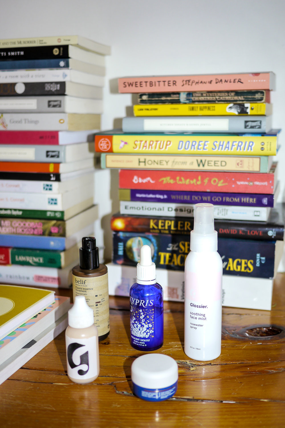 Some of Angie's favorite skincare products