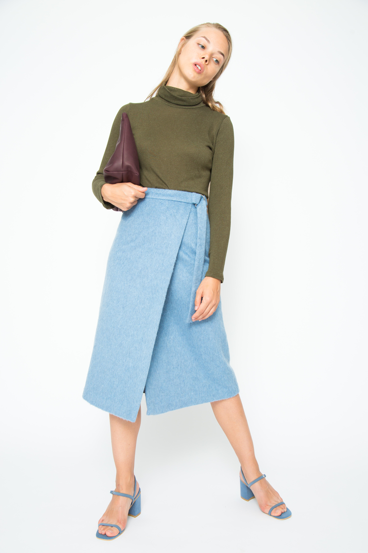Defina Balda Royal Wrap Skirt Blue