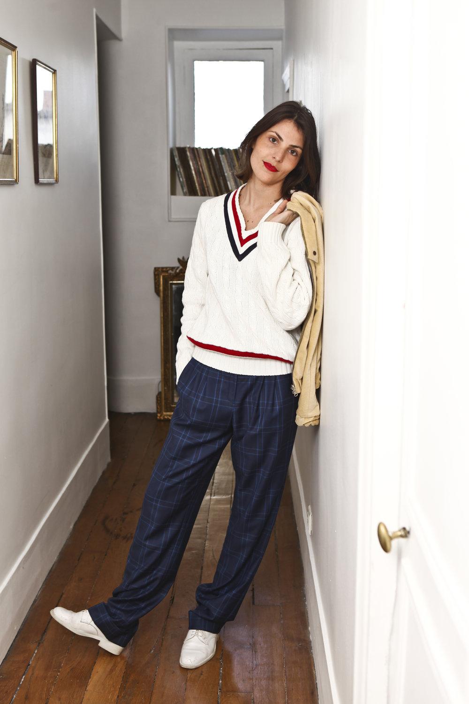Outfit Details: Sweater, Vintage ;    Pants, DA/DA