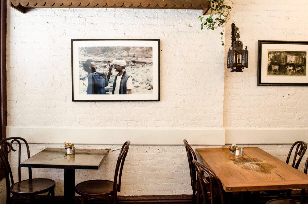 breakfast at cafe mogador passerbuys - Breakfast House Restaurant Wall Designs