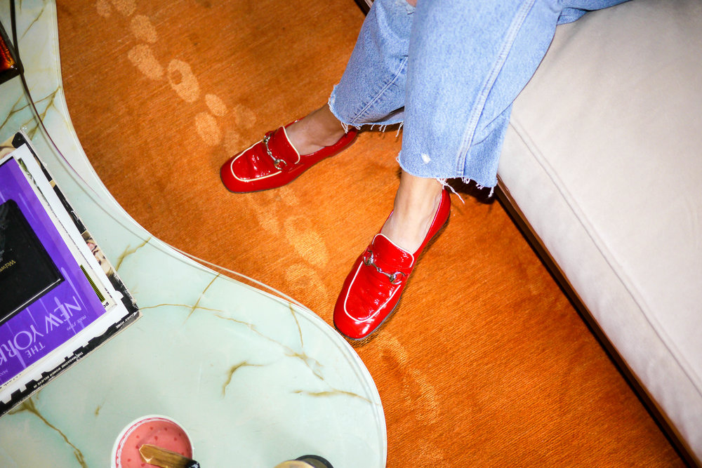 Outfit Details: Jeans, Vintage Levi ; Loafers, Vintage Gucci
