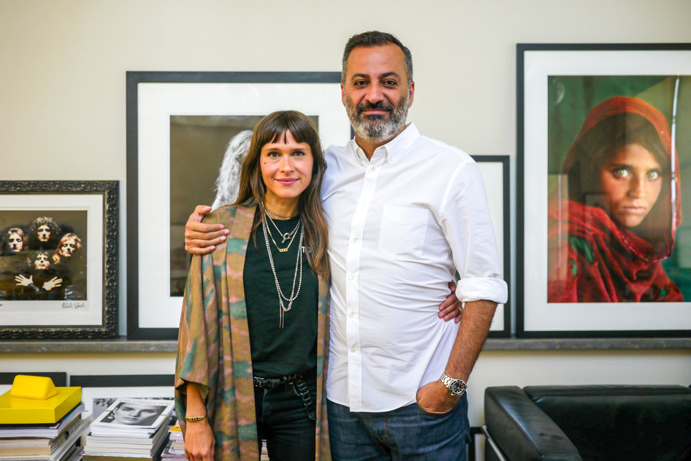 Georgie with Milk Co-Founder Mazdack Rassi