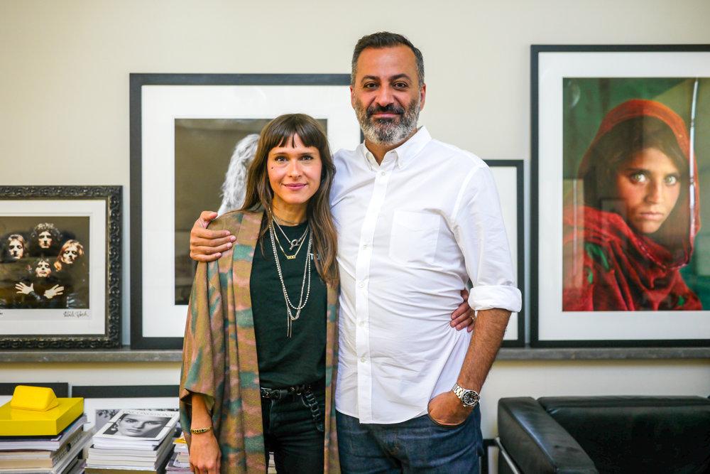 Georgie with Milk Co-Founder Mazdack Rassi